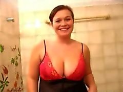 Sweet Fat Chubby Ex GF shower showing Tits and Pussy