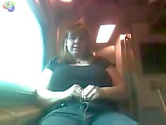 Mature BBW Public Flashing on a Train