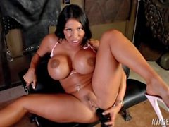 Ava Devine big black toy insertion