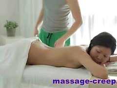 Asian massage blowjob with cum