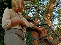 Busty Krystal Webb getting punished by strict blonde