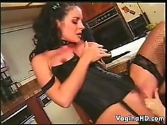 Sexy Lesbians Wearin Lingerie In The Kitchen