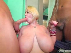 Samantha 38G como Hard Black Cock