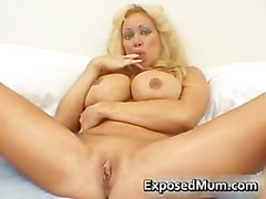 Huge tits mom in thong fingering her part2