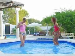 amazing pool masturbation of friends