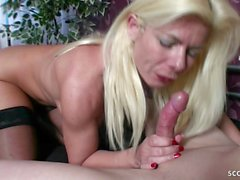 german step mom let son fuck her anal and swallow his cum