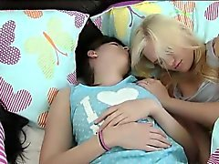 BFFs turns into nasty groupsex in the bedroom