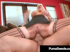 Busty Blonde Bombshell Puma Swede Plowed By A Hard Dick!
