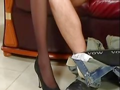 2 Pantyhose Hotties are getting fucked