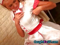 Cuty maid serving skank exgf video