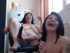 Russian lesbian mom webcam show