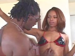 Marie Luv anal stuff with monster black cock