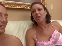 Hot MILF Gives The Best Handjobs!
