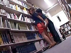 Tempting asian cutie cunt teased upskirt in the library