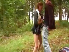 French Teen Fucked In The Woods
