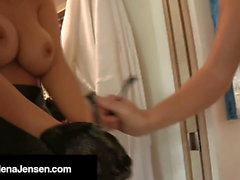 Busty Brunette Jelena Jensen Tied & Tamed By Samantha Ryan!