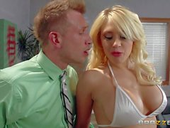 Big tit stripper Kagney Linn Karter sucks and fucks