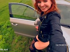 Jeny Smith public nudity on the road