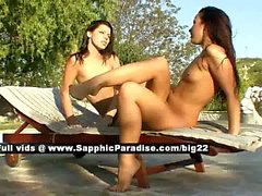 Klaudia and Jane lesbo girls licking