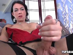 Shemale Danika Dreamz Plays With Her Cock