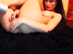 Sexy Tiffany Rousso enjoys having a horny solo masturbation