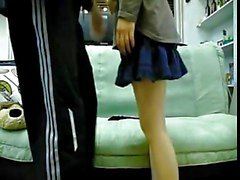 korean friends couple having sex on the sofa 2