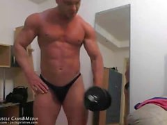 Chat de muscle Spy Cam Jerk