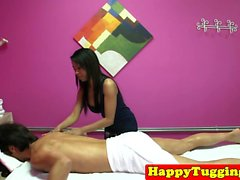 Faketit asian masseuse dickriding her client