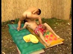 Nice outdoor african blowjob from black twinks