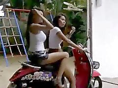 SEXY GIRLS Touring the Streets of Bangkok on Scooter