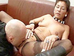 Hairy mature boss with two salaried