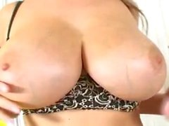 Carol Goldnerova Plays With Her Boobs And Pussy