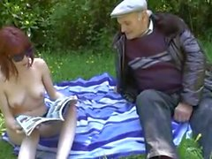 Older guy finds young girl in the park !