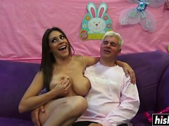 Raylene makes a thick dick disappear