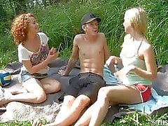 Volleybal feeksen Geef Outdoors Trio Blowjob