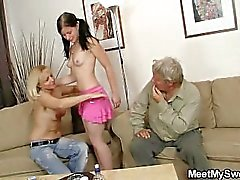 His mom toying while dad fucking his GF