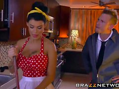 Busty housewife gets penetrated hard