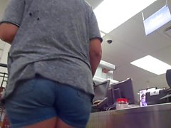 Thicky Mom Chunky Blue Jeans Booty