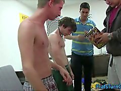 Straight college teen gets his tasty bum fingered