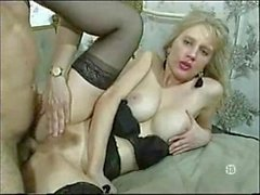 Blonde Lady In Nylons