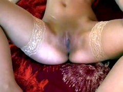 Swedish girl solo in bed
