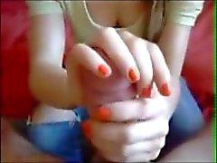 Girls Milking Cocks with their Hands and Feet