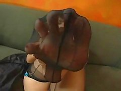 Beautiful sexy pentyhose & fingering