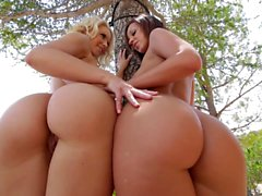 Anikka Albrite and Jada Stevens at Girls Try Anal