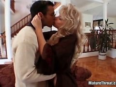 Hot MILF couldn't resist this hard and big cock
