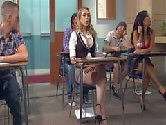 Kagney Linn Karter Horny For Italian Teacher's Cock
