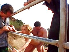 Naughty wife banged on the farm