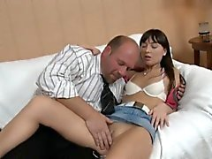 young girl fuck by old man