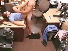 Banging Hot Nurse On Desk In Pawn Shop Office