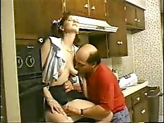 Skinny Pigtailed Teen Analed By Old Man
